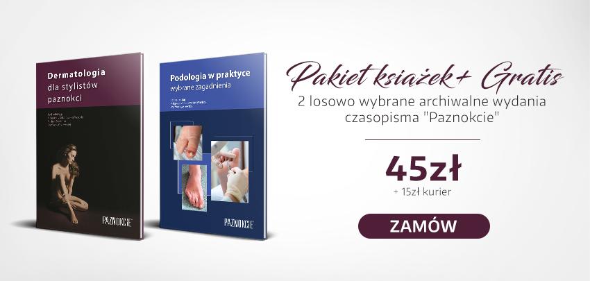 Pakiet książek i gratis gazeta czasopismo Paznokcie zamów