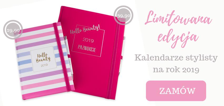 Limitowana edycja kalendarza stylisty gazeta czasopisma Paznokcie