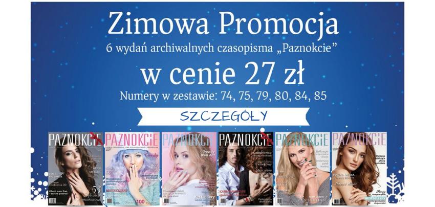Zimowa promocja pakiet archiwalny gazeta czasopismo Paznokcie