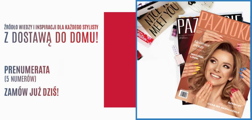 Slajder roczna prenumerta gazeta czasopismo Paznokcie 91 2 2019